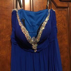 Jovani blue sapphire prom dress